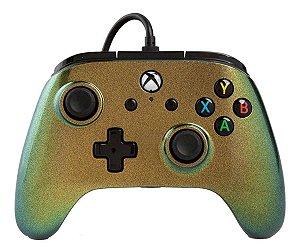 Controle Com Fio Para Xbox One Enhanced Wired Verde Nova - Power A