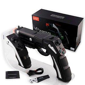 Pistola Blaster Adaptador para Celular Bluetooth The Phantom Shox para iPhone iPad e Android - Ipega