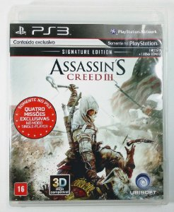 Jogo PS3 Assassins Creed III - Signature Edition - Ubisoft