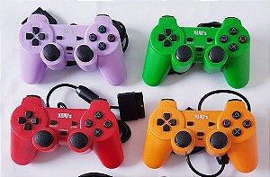 Controle Dualshock Playstation 2 PS2 Preto - Nanuz