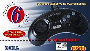 Controle Master System com 6 Botões - Lacrado Na Caixa - TecToy