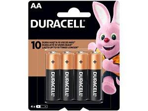 Bateria Alcalina AA 4 Unidades - Duracell