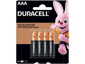 Bateria Alcalina AAA 4 Unidades - Duracell