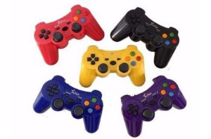 Controle Playstation 2 PS2 Sem Fio Azul - Feir