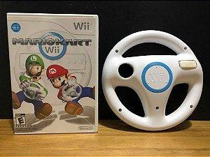 Usado Jogo Nintendo Wii Mario Kart Wii + Volante Oficial Wii Wheel- Nintendo