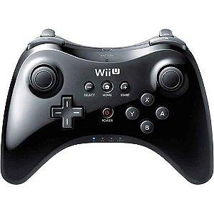 Usado Controle Nintendo Wii U Pro Controller Preto - Nintendo