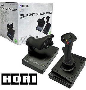 Usado Controle Manche Xbox 360 Flightstick EX 2 - Hori