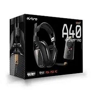 Headset Fone De Ouvido Astro A40 E Mixamp Pro Ps4 e PC Preto - Astro