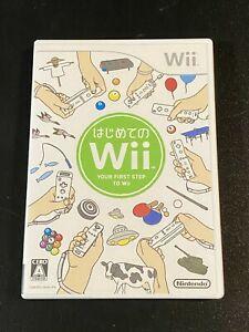Usado Jogo Wii HAJIMETE NO WII: YOUR FIRST STEP TO WII Japonês - Nintendo