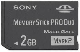 Usado Memory Stick PRO DUO 2GB PSP - Sony