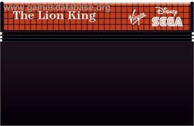 Jogo Master System The Lion King - Sega