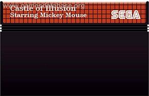 jogo Master System Castle Of Illusion