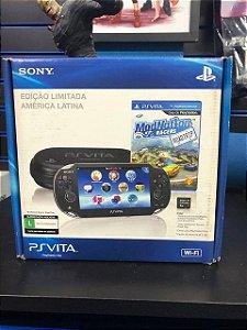 Console PS Vita + Memória 8Gb + Jogo Resistance ModNation + Case - Sony