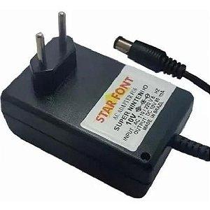 Fonte de alimentação AC Super Nintendo 10V 850mA - Importado