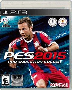 Jogo PS3 Pro Evolution Soccer 2015 PES 2015 - Konami