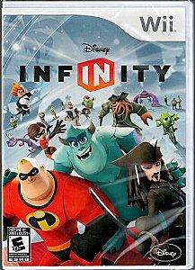 Usado Jogo Wii Disney Infinity com base, mundo e 2 personagens - Disney