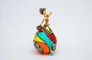 Carmen Miranda feita em cabaça e biscuit | Artista: Letícia Baptista