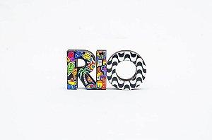 Palavra RIO Decorativa em MDF