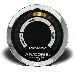 HALLMETER 52MM COMUM CROMA PRETO (625000CP) CRONOMAC