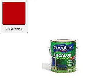 ESMALTE EUCALUX SECA RAPIDO VERMELHO 3,6 L