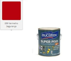 SUPER PISO EUCATEX ACRIL VERMELHO SEGURANÇA 3,6 lts