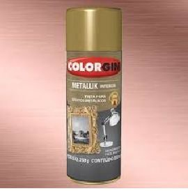 COLORGIN SPRAY  METALLIK ROSE GOLD 350ML (ouro rose)