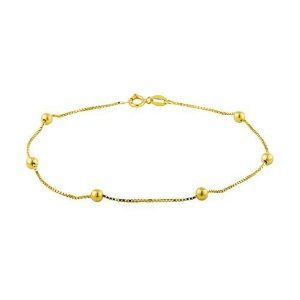 Pulseira Veneziana com Bolinhas Ouro18k