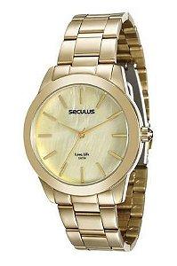 Relógio de Pulso Grande Seculus 20389lpsgda2