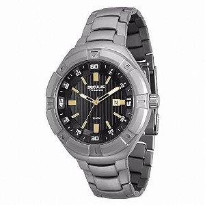 Relógio de Pulso Grande Seculus 20402g0svnt1 titanium