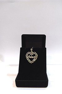 Pingente Folheado a ouro 18k, coração amor