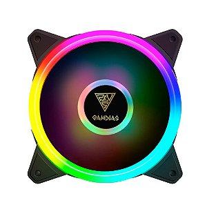 Kit com 5 fans Gamdias Aeolus M2-1205R RGB 120mm