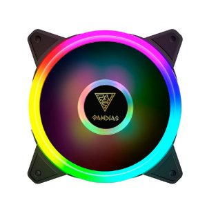 Kit com 4 fans Gamdias Aeolus M2-1204R RGB 120mm