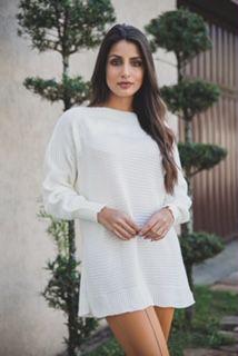 Blusa tricô (veste até o tamanho G1)