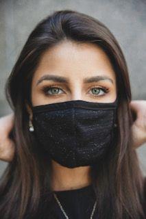 Máscara lurex forrada
