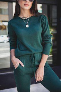Conjunto de trico verde
