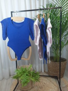 Body tricot  com manga
