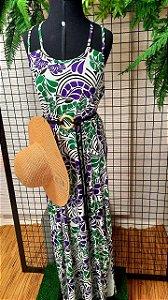 Vestido longo alça dupla