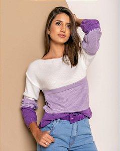 Blusa manga longa em trico