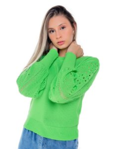 Blusa trico manga  longa