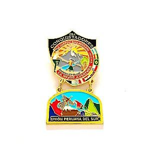 Pin, DSA com Brasão em metal da Unión Peruana del Sul