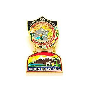 Pin, DSA com Brasão em metal da Unión Boliviana