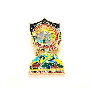 Pin, DSA com Brasão em metal da Unión Ecuatoriana
