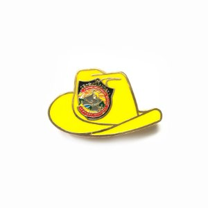 Pin, DSA 2019, chapéu, Amarelo, Conquistador