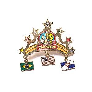 Pin chosen, Coroa com três pingentes