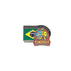 Pin, Chosen com bandeira do Brasil