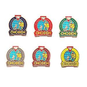 Set de Pin Chosen, redondo com fundo nas cores das classes