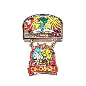 Pin Chosen, Brasão da DSA com logo Chosen, Desbravador