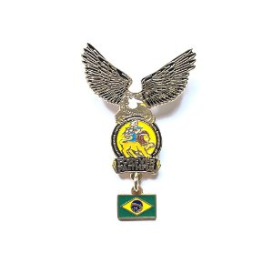 Pin Forever Faithful, logo com águia e Bandeira do Brasil