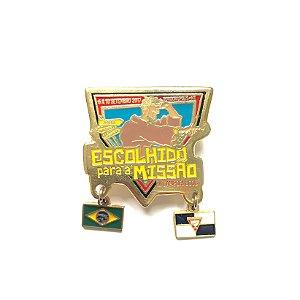 Pin, Escolhido para a Missão, pingente, Brasil e EUA