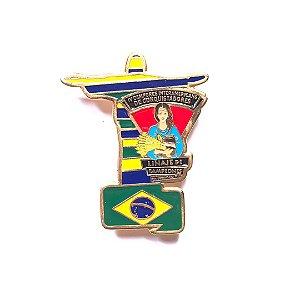 Pin, Linaje de Campeones, Cristo Redentor nas cores da Bandeira do Brasil
